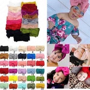 Kinder-Baby Big Bow Weit elastisches Stirnband-Haar-Band Wraps Säuglingsstirnband-neugeborene Haarbänder hairwraps Kopf-Verpackung Turban Verkauf D61005