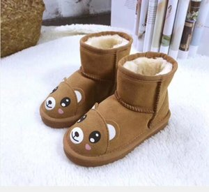 Fashion Cartoon Children Snow Boots Classic Plus Kids Shoes for Winter 2019 New Waterproof Girls Ankle Boots Baby Warm Shoes