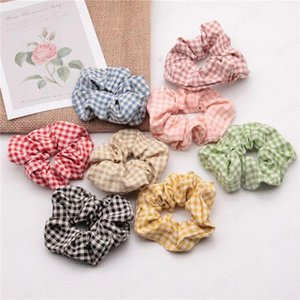 Hairbands Grid Scrunchie Ponytail Hair Holder Rope Plaid Headdress Houndstooth Hair Tie Accesorios Scrunchy Headband
