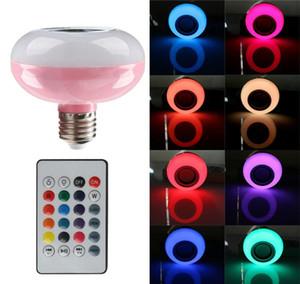 LED 빛 E27 다채로운 똑똑한 LED 음악 빛 무선 전구 Bluetooth 램프 스피커 전구 원격 제어 12W를 가진 음악 LED 전구