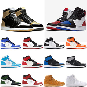 1 Top 3 Men basketball Shoes Bred Toe Chicago Banned Royal Blue Fragment UNC HOMAGE TO HOME New Love 2020 popular Sneakers Sports