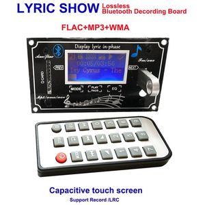 Freeshipping Lyric Show Écran tactile capacitif Écran à cristaux liquides etooth Module de carte de décodage MP3 SD / MMC USB Télécommande FM LRC WMA WAV Décodeur Kit