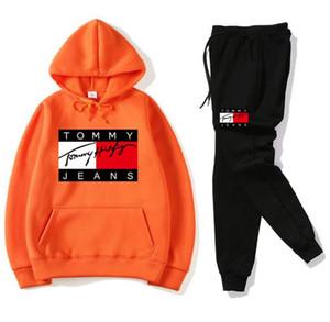 Novas moda masculina treino mulheres calça casual desporto paletó camisola do hoodie + terno de calça Mulher capuz e conjunto de calça agasalho 20889