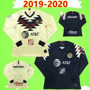 Sudaderas de fútbol de América CA Manga larga completa 2019 2020 O.PERALTA B.VALDEZ A.LBARRA LIGA MX Club México 19 20 camisetas camisetas de fútbol