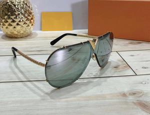 Fashion Luxury Mens Evidence designer Occhiali da sole Versione aggiornata Z0350W Serie MILLIONAIRE Occhiali da sole con montatura in oro lucido con scatola