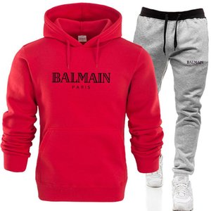 NEW Fashion Designer Men and Women Sportswear Brand Sportswear High-quality hoodies Couple Jogging Suit Black Red Blue Various Colors NO.16S