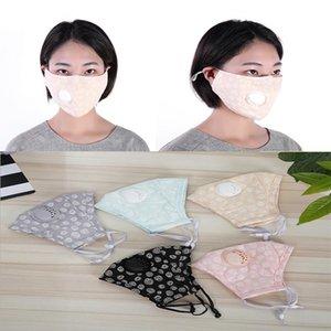 Washable cotton cloth mask pure color round dot mask Dust and haze prevention Breathing valve designer mask da481