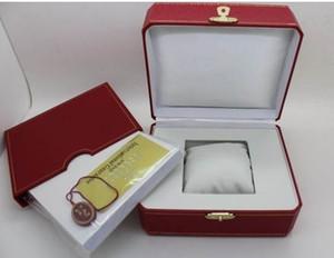 الجملة ووتش صندوق الساحة الحمراء جديد الأحمر الأصل مربع للساعات صندوق ويت بطاقة كتيب الكلمات ورقات في اللغة الإنجليزية جودة عالية