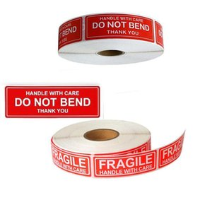 150pcs roll Fragile Warning Sticker Thank You Style Self Adhesive Seal Label Sticker Do Not Band Warning Sticker DHF140