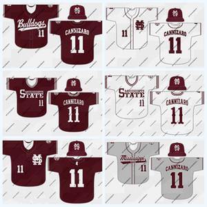 Mississippi State Bulldogs 28 Christian MacLeod 35 Basiel Williams 36 Hunter Blalock 37 Eric Cerantola NCAA Jersey de béisbol universitario
