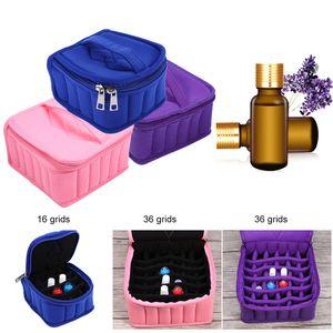 Essential Nail Oil Bag Samt Carrying Inhaber 16/36 Grids Fall tragbare Nagelgelpoliermittel Ölflaschen Halter Nail Art Bagscessories