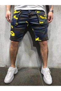 Camouflage Cargo Shorts Estate Designer Hombres Pantalones Pocket Sport Shorts Mens