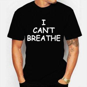 Mens Designer T Shirts for Men Tops Letter I Cant Breathe T Shirt Brand Clothing Fashion Short Sleeve Tshirt Trendy Tops S-3XL 2020 Summer