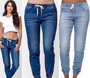 Yaz Yeni Kadınlar Jeans Kot Pantolon Moda Seksi Siyah Mavi Pantolon Jeans Plus Size S-5XL
