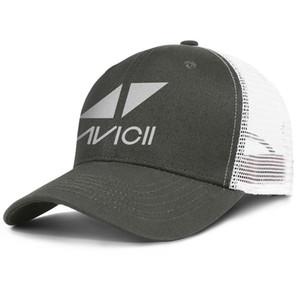 Süper DJ Avicii logo army_green erkekler ve kadınlar için kamyon şoförü kap beyzbol stilleri tasarımcı tasarım kendi şapkalar