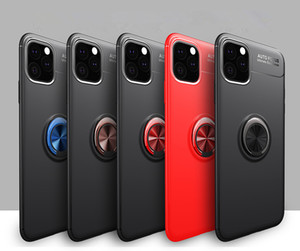 Phone Case Invisible Magnetic tampa do suporte de anel de metal Buckle Anti-queda Shell para o iPhone 11 Pro XR Max Iphone X 8plus 7plus 6s