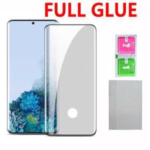 5D completa Glue vidro temperado Phone Screen Protector Para Samsung Galaxy S20 Plus Ultra S10 Nota 10 S9 S8 Além disso note9 Note8 Huawei P40 PRO P30