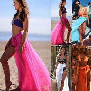 Bayan Mayo Bikini Cover Up Sheer Plaj Mini Şal Etek Sarong Pareo
