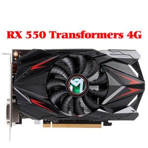 Редон RX 550 графическая карта 4G GDDR5 128bit 6000MHz 1183MHz PWM DirectX 12 HDMI + DP + DVI 512unit RX550 видеокарты