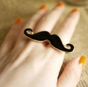 Hot Fashion Jewelry Retro Afandi Beard Shape Double Finger Ring Women Rings
