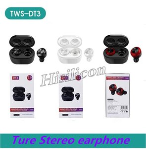 150pcs DT-3 TWS Wireless Bluetooth 5.0 Earphone True Stereo Earbud in-Ear headset For smartPhone