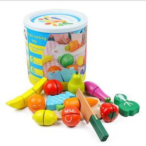 الخضار قطع الأطفال خشبية البليت المغناطيسي الفاكهة والخضروات قطع انظر شيفروليه اللعب المنزلية برميل 3-6 سنة