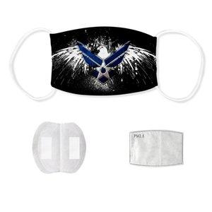 Máscaras de designer USA Flags lavável reutilizáveis de pano Máscaras de Protecção Anti Poeira protectora protetora pode inserir Carbono Filtro FY9132