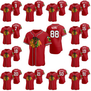 88 Patrick Kane Chicago Blackhawks de hockey 2020 X Crossover béisbol jerseys Duncan Keith Jonathan Toews casco de Bobby Stan Mikita Zack Smith