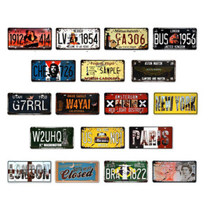 Licença carro da placa de metal de estacionamento Número Tin Signs Bar Pub Cafe Decor de Metal Sign Garagem Pintura Art Plaque Poster JK2006XB