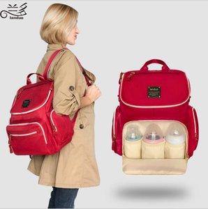 LANDUO Mommy Rucksäcke multifunktionales Windeln Tasche Mutter Windel-Außen Travel Organizer mit Kinderwagen Haken MPB09
