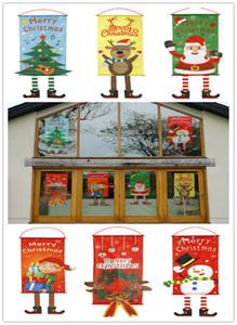 drapeaux de décoration de Noël mur de la fenêtre domestique noël pendre drapeaux bannière pour la décoration de la maison Père Noël bonhomme de neige décoration Pendentif A07