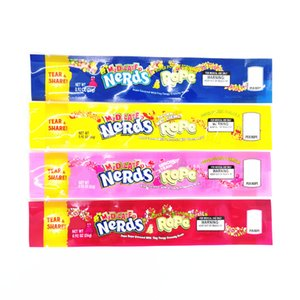 Leere MEDICATED Nerds Seil-Verpackungs-Beutel 4 Arten Option Polyesterfolie Lebensmittelverpackungen Nerdsrope Gummy Candy bag Geruch Beweis