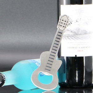 Cap Beer Bottle liga de zinco Opener criativa prata guitarra chaveiro corrente de metal Wine Bar Opener ornamento Bar Acessórios