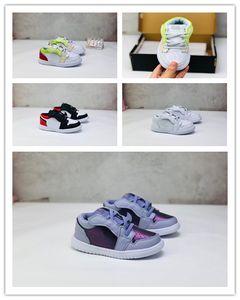 Luxus Designer Kids 1s Space Jam Bred Concord Gym Rot Off Basketballschuhe Kinder Jungen Mädchen Jugend Weiße Midnight Navy Sneakers Kleinkinder
