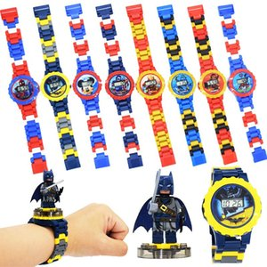 Super Hero Children Watch Building Block Watch Marvel Avengers Toy Compatible with Legoed Figures Toys for Kids Girls Boys Christmas Gift