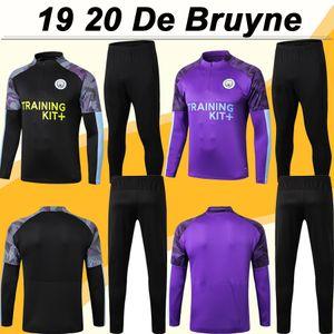 19 20 De Bruyne Training Suit Uniformi Mens pullover di football Kun Aguero G. GESU 'SANE per adulti Tuta Football Kit Camicie STERLING SILVA
