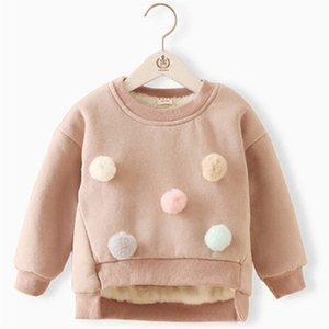 Das meninas do miúdo de inverno de espessura Sweater Brasão cartoon crianças Meninos Camisolas Roupa Quente infantil velo Kid Pullover Blusa manga comprida CJ191222
