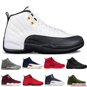 Hot New 12 12s Gym red Michigan Bulls mens Basketball shoes Flu Game International Flight Wings Taxi men sports sneakers designer trainers