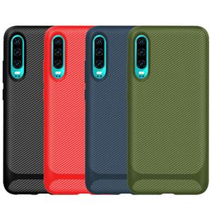 Karbon Elyaf Yumuşak TPU Kılıf İçin Xiaomi CC9 Pro CC9E redmi 8 8A 7 7A Not 8T Pro One Plus 7T Darbeye Lüks Dikey Kaymaz Telefon Kapak