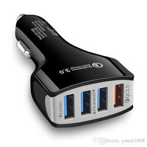USB a 4 porte Caricabatteria da auto veloce rapida intelligente caricatore del telefono mobile per iPhone Xiaomi x 8 6s 7 SE Samsung S8 iPad Car-Charger