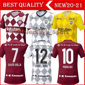 20 21 Vissel Maillots de ayak futbol forması Podolski A.INIESTA DAVID VILLA 2020 2021 ev uzakta 3 futbol forması Camiseta de futbol S-2XL