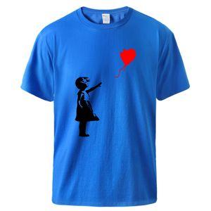 World Peace Tshirts Summer Cotton Tops Kcco Balloon Girl Banksy Love Sportswear Man Brand Cool Fashion Short Sleeve Tops Tee