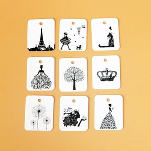 2.6x3.3cm 100pcs lot Paper Tags DIY Craft Label Luggage Party Favor Wedding Party Note Hang Tag Labels Mark Gift Paper Tags