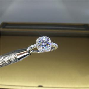 100% 18K 750Au золото Moissanite бриллиантовое кольцо D цвет VVS С национальный сертификат MO-00104