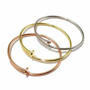2020 المجوهرات الفاخرة 925 أساور الفضة الأظافر للنساء النسخة رقيقة المجوهرات الفاخرة الشحن المجاني