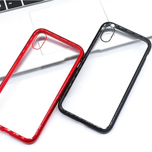 Scratchproof Adsorption Magnetic Tempered Glass Phone Case For iPhone 11\XS\8\7