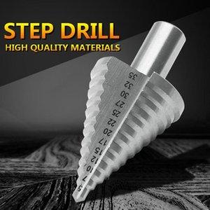 5-35mm Titanium Cobalt Paso Broca de nitrógeno Cono espiral Ranuras Drill Bits Triangular caña agujero cortador