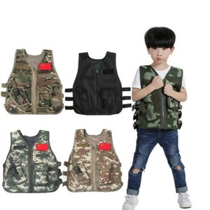 Children Summer Camping Training Camouflage Vest Tactical hunting Kid Jacket Airsoft Cs War Game Sniper Uniform