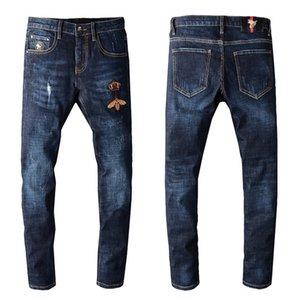 Now mens designer pants Distressed zipper Hole Men Jeans High Quality Casual mens jeans Skinny Biker Pants jeans pour hommes