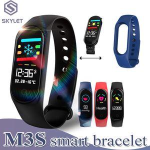 Pulsera inteligente rastreador de ejercicios M3S Tasa de correa del corazón para Smart celulares PK M2 M3 F0 inteligente de pulsera con caja al por menor